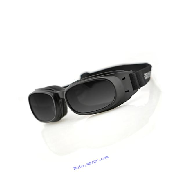Bobster Piston Goggles,Black Frame/Smoked Lens,one size