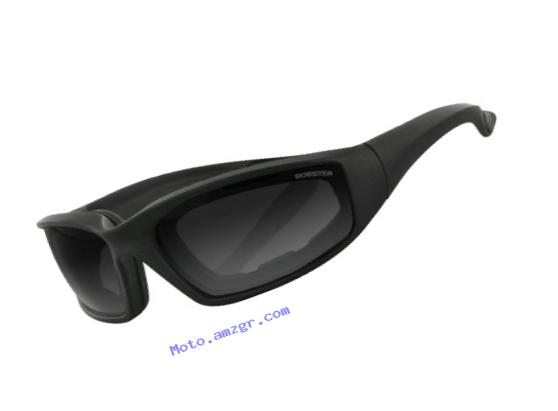 Bobster Foamerz 2 Sport Sunglasses,Black Frame/Smoked Lens,one size