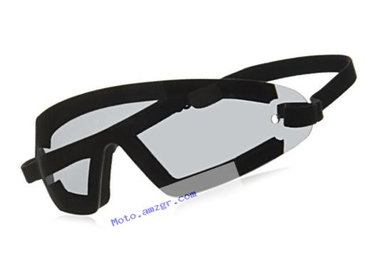 Bobster BW201 Wrap Around Goggles,Black Frame/Smoked Lens,one size