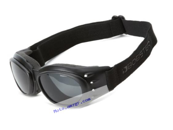Bobster Cruiser 2 Goggles,Black Frame/3 Lenses (Smoked, Amber and Clear),one size